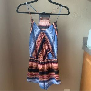 Peach and blue romper